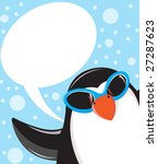 cute christmas penguin | Shutterstock .eps vector #27287623