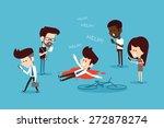 social ignore flat design... | Shutterstock .eps vector #272878274