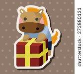 animal horse worker cartoon...   Shutterstock .eps vector #272880131