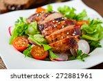 fresh vegetable salad with... | Shutterstock . vector #272881961