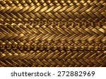 Weaving Pigtail Gold Color...