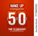wake up  50  sale design for... | Shutterstock .eps vector #272885081