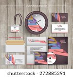 corporate identity template... | Shutterstock .eps vector #272885291
