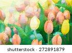polygonal mosaic  triangular... | Shutterstock .eps vector #272891879
