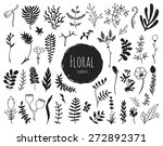 collection of hand drawn floral ... | Shutterstock .eps vector #272892371