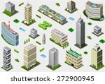 isometric building city palace... | Shutterstock .eps vector #272900945