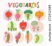 lovely vegetables concept set... | Shutterstock .eps vector #272912489