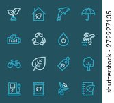 green ecology web icons set | Shutterstock .eps vector #272927135