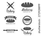 set of modern bakery logos ... | Shutterstock .eps vector #272928899