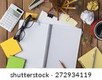 miscellaneous office material... | Shutterstock . vector #272934119