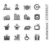 hotel service icon set 9 ... | Shutterstock .eps vector #272935517