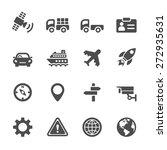 transportation icon set  vector ...   Shutterstock .eps vector #272935631