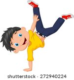 cartoon boy standing on his... | Shutterstock .eps vector #272940224