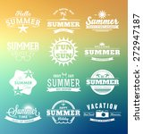 Colorful Summer Typography...