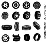 tire icons set | Shutterstock .eps vector #272949707