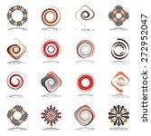 design elements set. spiral and ... | Shutterstock .eps vector #272952047