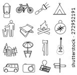 camping line icons set | Shutterstock .eps vector #272952191
