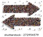 large groups of people seen...   Shutterstock . vector #272954579