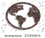 large group of people seen from ... | Shutterstock . vector #272955074
