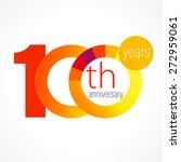 100 years old round logo.... | Shutterstock .eps vector #272959061