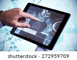 man using tablet pc against... | Shutterstock . vector #272959709