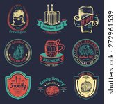 old brewery logos set. kraft... | Shutterstock .eps vector #272961539