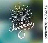 vector hand lettering... | Shutterstock .eps vector #272961557