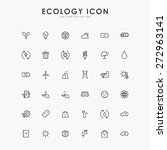 36 ecology minimal line icons | Shutterstock .eps vector #272963141