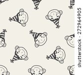 doodle birthday boy seamless... | Shutterstock .eps vector #272964905