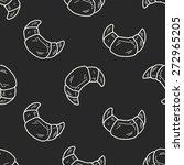 doodle bread seamless pattern... | Shutterstock .eps vector #272965205