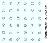 sweet pastry icons  simple and...