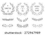 hand drawn vintage floral... | Shutterstock .eps vector #272967989