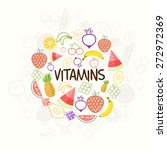 set of nutritious and vitamin...   Shutterstock .eps vector #272972369