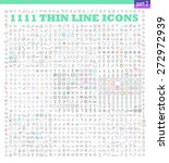 1111 thin line icons exclusive... | Shutterstock .eps vector #272972939