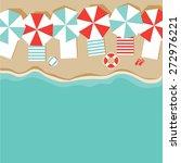 beach umbrellas flat design...   Shutterstock . vector #272976221