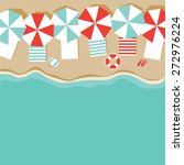 beach umbrellas flat design... | Shutterstock .eps vector #272976224