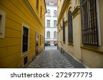 the old narrow streets of... | Shutterstock . vector #272977775