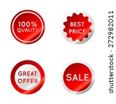 set of red sale stickers... | Shutterstock .eps vector #272982011