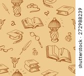books library seamless pattern. ... | Shutterstock .eps vector #272988239