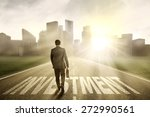 successful businessman carrying ... | Shutterstock . vector #272990561