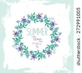 summer time greeting card with...   Shutterstock .eps vector #272991005