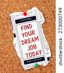 the phrase find your dream job... | Shutterstock . vector #273000749
