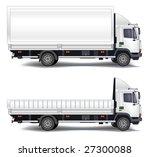 vector trailer  transports... | Shutterstock .eps vector #27300088
