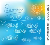 summer sea background with... | Shutterstock .eps vector #273001871