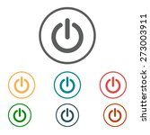 power sign icon. flat design...   Shutterstock .eps vector #273003911