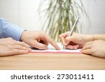 man is pointing a place where... | Shutterstock . vector #273011411