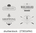 brand and logo design  old... | Shutterstock .eps vector #273016961