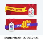 40 percent off discount... | Shutterstock .eps vector #273019721
