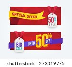 50 percent off discount... | Shutterstock .eps vector #273019775