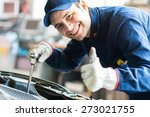 mechanic repairing a car | Shutterstock . vector #273021755
